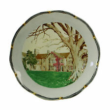 The Manor Recording Studio Shipton Oxford Souvenir Painted Cake Stand c1900