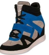 dc023be061b4 Skechers Women s Shoes US 7 SKCH+3 Hidden Wedge Heel Suede High Top Blue  Sneaker