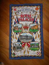 Vintage Royal Palaces Tea Towel UK Elgate
