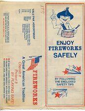 "1991 Insert Brochure: ""Enjoy Fireworks Safely"""