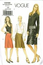 Vogue V8199 Slim Pencil Pleated Skirt 3 Styles Size 18-20-22
