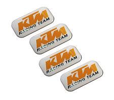 KIT 4 STICKERS ADESIVI RESINATI 3D PER AUTO MOTO TUNING KTM RACING TEAM LOGO