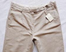 BNWT NEXT RRP35 Ladies Premium linen beige summer relaxed leg trousers 14 R