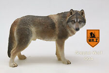 Exquisite Steppe wolf Hand Painted Resin Figurine Statue 1:6 simulation model
