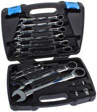 Maul Schlüssel Satz Werkzeug Set 14-tg. Ratschen Ringschlüssel Ratschenschlüssel
