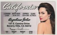 Angelina Jolie novelty collectors id card Drivers License