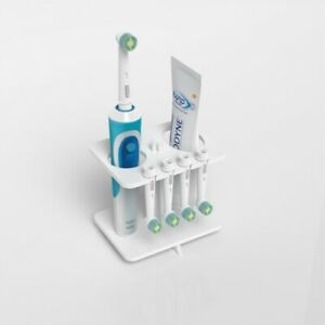 Electric Toothbrush Head Holder / Oral B 4Heads Stand White Bathroom Organiser