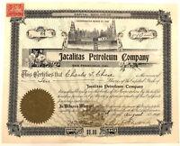 Jacalitas Petroleum > 1900 San Francisco, California old stock certificate share
