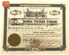 Jacalitas Petroleum > 1900 San Francisco, California old stock certificate share