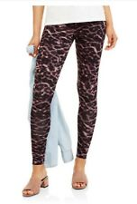 Faded Glory Womens Leggings LARGE Cheetah Essential Cotton Footless NWT