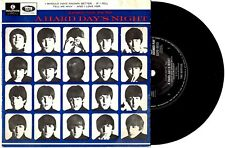 "THE BEATLES - A HARD DAY'S NIGHT - RARE EP 7"" 45 VINYL RECORD PIC SLV"