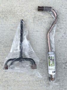 Lumex Low Profile Quad Cane New Bronze Black