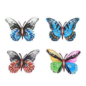 4Pcs Metal Butterflies Garden Ornaments Butterfly Decor Outdoor 3D Art Wall Deco