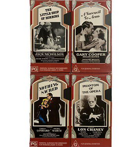Collectors Edition CEL VHS X 4 Shop Of Horrors Farewell To Arms Phantom Opera