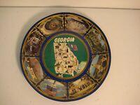 Georgia State Souvenir Plate - Printed Plastic