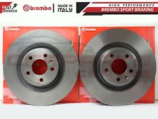 FOR AUDI A4 A5 S4 S5 Q5 08-11 FRONT AXLE GENUINE BREMBO COATED BRAKE DISCS 345mm