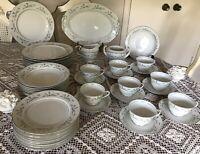 Harmony House -Platinum Garland Pattern -Dinnerware Set -43 Pieces - For 8