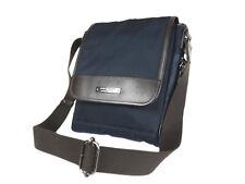 BURBERRY BLACK LABEL Nylon Canvas Leather Navy Crossbody Shoulder Bag BS0497