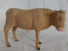 n°26] Santon ancien DEVINEAU (vache) Plâtre - Bois - Floqué (Crèche de Noël)