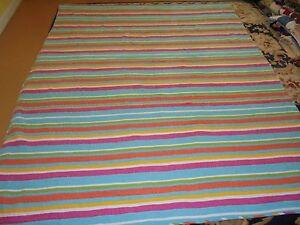 Cute Rainbow Color Printed Cloth Stripe Quilt
