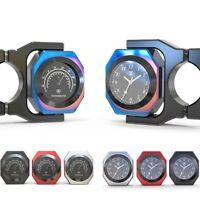 Spirit Beast Handlebar Clocks Thermometer Motorcycle Gauge for Honda Harely BMW