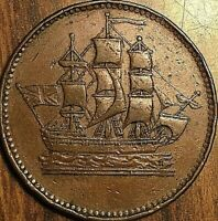 PEI SHIPS COLONIES AND COMMERCE HALF PENNY TOKEN - SHC-16 Lees 23,24 10+K