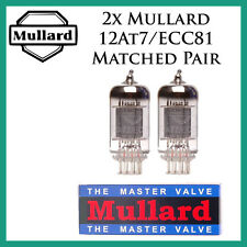 New 2x Mullard 12AT7 / ECC81 | Matched Pair / Duet / Two Tubes