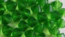 Glasperlen  Bicone transp. grün 8 mm 20 Stk.