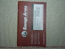 SAVAGE ARMS BOLT ACTION, ACCUTRIGGER MARK I, MARK II, .22LR OWNER'S MANUAL.