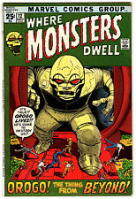 WHERE MONSTERS DWELL #12 7.0 OFF-WHITE TO WHITE PAGES BRONZE AGE