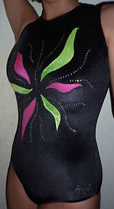 New LILAC LIZARD leotard RADIANCE pink/green with Rhinestones ALL SIZES
