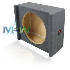 "SHALLOW-MOUNT MDF DOWNFIRING ENCLOSURE BOX for SINGLE 12"" CAR STEREO SUB WOOFER"