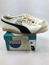 Vintage Puma Ladies Jogger Shoes Nos Size 8 70s Rare White Black With Box