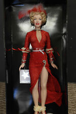 "Franklin Mint Marilyn Monroe 16"" Vinyl Doll Gentlemen Prefer Blondes Red Lame"