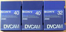 SONY DVCAM PDVM-32N -40N TAPES 3 TAPES