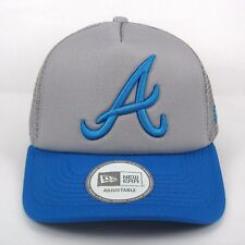 NEW Era MEN'S MLB Atlanta Braves Pop Tonale Blu & Grigio Camionista Cap-Taglia unica