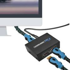 1 IN 2 OUT 1 INPUT 2 OUTPUT HDMI SPLITTER 2 WAY SWITCH BOX HUB 4K 3D