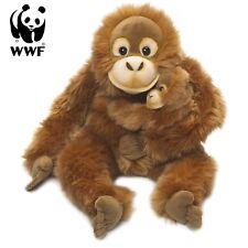 WWF Plüschtier Orang-Utan Mutter mit Baby (25cm) Kuscheltier Lebensecht Affe