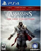PLAYSTATION 4 PS4 GAME ASSASSIN'S CREED EZIO TRILOGY NEW AND SEALED