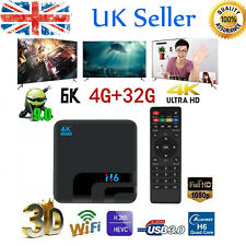 H6 Smart TV Box Android 9.0 H6 UHD 6K HDR 4GB+ 32GB 2.4G WiFi Media Player P8E7