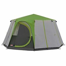 COLEMAN CORTES OCTAGON 8 MAN TENT GREEN camping festival family glamping luxury