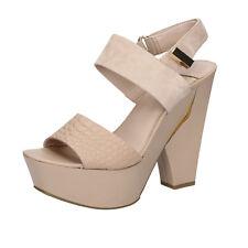 scarpe donna MARCIANO 40 sandali beige camoscio pelle BZ430-E