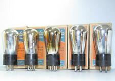 5 In Box-Identical Cunningham Globe CX-301A radio tubes.  TV-7 test NOS.