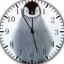 "Cute Baby Penguin wall Clock 10"" will be nice Gift and Room wall Decor E207"