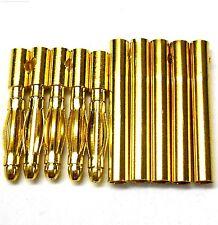 c0202x5 RC Conector 2mm 2.0mm chapado en oro hombres y mujeres BALA BANANA x 5
