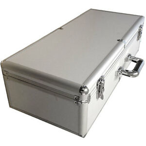 NEW X-LARGE Aluminium Flight Case Tool Box With Foam Block (680x300x190mm)