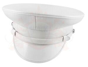 Military Marching Band White Peak Cap, Peaked Hat Headgear