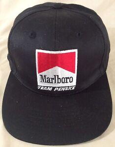 Vintage Embroidered Marlboro Team Penske Snapback Hat Cigarette NEW