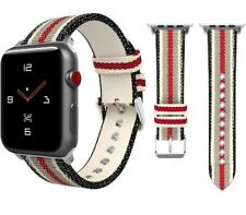 Apple Watch Band Strap Gucci Pattern Sport Replacement Leather Band 42mm iWatch