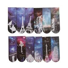 6pcs Starry Sky Paper Bookmarks Magnetic Book Marks Supplies Stationery Fine